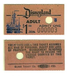 An important part of the history of Disneyland: The very first ticket of admission